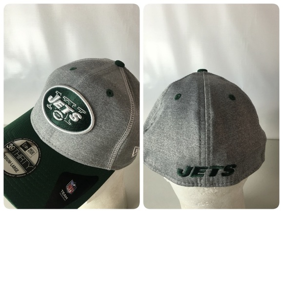 5cb66f608 New York Jets Hat 39THIRTY Football Logo Patch M L. NWT. New Era